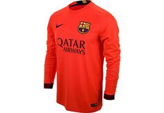 Nike Barcelona Long Sleeve Away Jersey 2014-2015...available at SoccerPro.