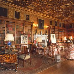 The Red Library at Longleat- quite possibly one of the most beautiful rooms I have ever seen, certainly my favourite. Wonderfully faded.