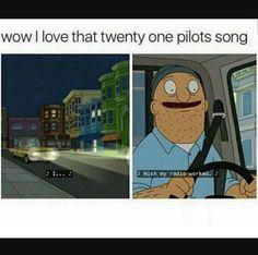 Wow, Teddy, I uh, I didn't know you were a fan of Twenty One Pilots. Twenty One Pilots Songs, Twenty One Pilot Memes, Twenty Pilots, Twenty One Pilots Lovely, Tenacious D, Rasengan Vs Chidori, Screamo, Top Memes, Band Memes
