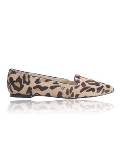 Yellow Leopard Flocked Flats - Sheinside.com