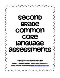 2nd Grade Common Core English/Language Arts Scope and