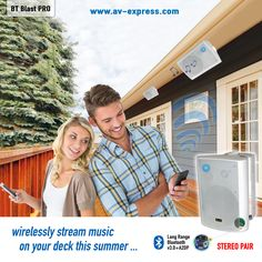 #WIN Great Wireless Outdoor Speakers for your #patio, #landscape, #garage, #basement, #boat, and #deck ideas! Wirelessly stream your music outside in the summer!#fathersday ideas, #Giveaways, #Sweepstakes
