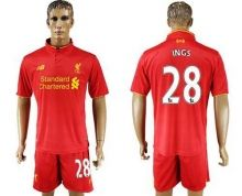 Liverpool #28 Ings Red Home Soccer Club Jersey