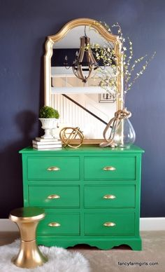 Give furniture a statement-making new look with spray paint.