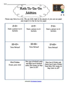 Love this idea for student choice of math problems... great idea for morning work and students choose the 3 problems that they work.