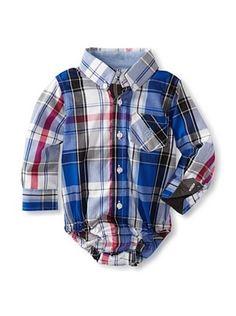 61% OFF Andy & Evan Baby Plaid Shirtzie (Bright Blue)