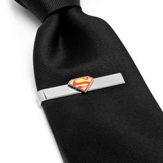 518a05288bef DC Comics Enamel Superman Shield Tie Bar Superhero Cufflinks, Designer  Cufflinks, Superman Stuff,