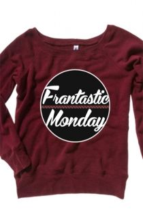 Off-The-Shoulder Frantastic Monday Crewneck Hoodie - ConnorFranta Hoodies - Official Online Store on District Lines