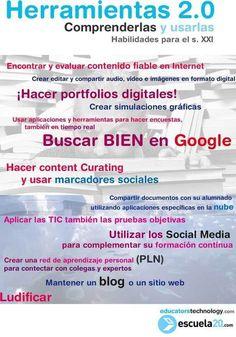 Escuela y TIC: Nube de ideas: Cosas que hacer si eres ´profeTIC´