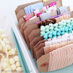 Heart Handmade UK: Crafty Organizing | Organizing The Craft Room | Embroidery Thread and Ribbon Storage