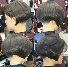 ... bob and shaved nape inverted and stacked bob with short nape