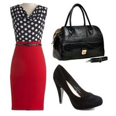 Already have the skirt, shoes and bag, just need the shirt! Great for work! Clothes Whore | Big Fashion Show dresses for work