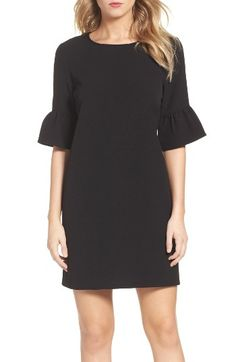 Free shipping and returns on Charles Henry Bell Sleeve Shift Dress at Nordstrom.com. This day-to-night shift made from stretch crepe is framed with elbow-length bell sleeves.