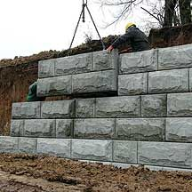 the stone strong precast retaining wall system uses a series of 5800 ...