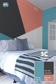 Encuentra los colores perfectos para darle personalidad a tu hogar y mézclalos utilizando la #Fórmula3C.#Combina colores y transforma tu espacio.