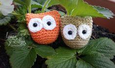 mini buho patron amigurumi gratis crochet ganchillo owl free