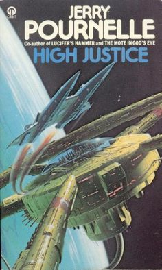 Chris Moore's cover for the 1980 edition of High Justice (1977), Jerry Pournelle