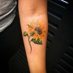 Inspirational Sunflower Tattoos! - Mytattooland.com