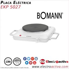 ¡Práctica y económica! Pláca Eléctrica BOMANN EKP 5027 http://www.electroactiva.com/bomann-placa-electrica-ekp-5027.html #Elmejorprecio #Placa #Electronica #PymesUnidas