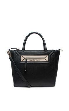 Handväska E1VNBBZ3 BLACK/GOLD - Versace Jeans - Designers - Raglady