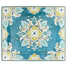 Traditional Le Cadeaux Melamine Tangerine Charger Tray, ,