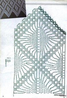 Crochet Knitting Handicraft: Barradinhos On 2 18 Crochet Borders, Crochet Chart, Filet Crochet, Crochet Stitches, Knit Crochet, Stitch Patterns, Crochet Patterns, Knit Edge, Bruges Lace