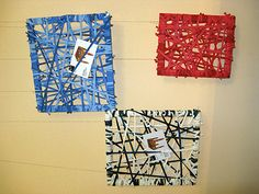 bulletin boards - could be a weaving project turned into a gift