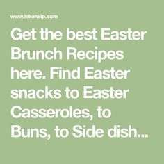 Get the best Easter Brunch Recipes here. Find Easter snacks to Easter Casseroles, to Buns, to Side dishes,to Easter cookies & more Easter Lunch ideas here. Easter Snacks, Easter Lunch, Easter Dinner Recipes, Easter Treats, Tater Tot Breakfast Casserole, Breakfast Dishes, Breakfast Recipes, Breakfast Potatoes, Breakfast Ideas