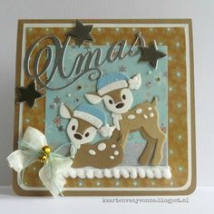 Kaarten & zo: 52 weeks to Christmas. Christmas Card Images, Christmas Deer, Handmade Christmas, Christmas Movies, 3d Cards, Cool Cards, Stampin Up Cards, Card Making Inspiration, Making Ideas