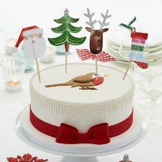 Christmas Tree/Reindeer/Santa Claus/Christmas Socks Cupcake Topper Toothpicks, Cocktail Picks, Party Decorations Christmas Cupcake Toppers, Wedding Cupcake Toppers, Christmas Cupcakes, Wedding Cupcakes, Christmas Tree Food, Sock Cupcakes, Cereal Treats, Cocktail Sticks, Reindeer Food