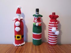 Xmas wine bottle covers