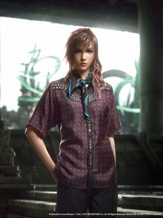 #FinalFantasy characters model the latest #Prada collection. Video-games + Fashion? Who knew.