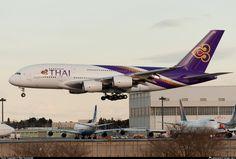 HS-TUC Thai Airways International Airbus A380-841 taken 03. Jan 2013 at Tokyo - Narita International (NRT / RJAA) airport, Japan by Hijiri Y...