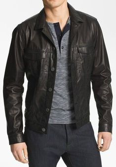 MENS BIKER LEATHER JACKET