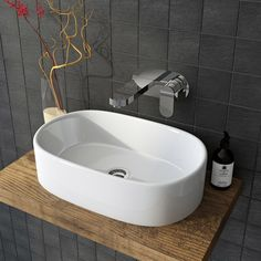 British Ceramic Tile Kaolin porcelain grey anthracite mosaic x - 4 sheets Toilet And Bathroom Design, Porcelain Tile, Contemporary Interior, Mosaic Tiles, Sink, Flooring, Ceramics, Grey, Project Ideas