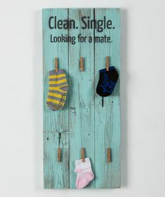 bah hahaha! ~~Look what I found on #zulily! Jamaican Sea Single Socks Organizer Board #zulilyfinds