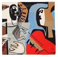 Le Corbusier : Two Musicians Le Corbusier, Contemporary Wall Art, Modern Art, Edward Hopper, Oui Oui, Mural Art, Painting Inspiration, Design Art, Illustration