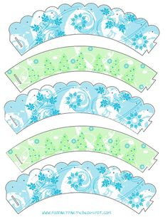 Free Pretty Winter Cupcake Wrappers