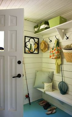 small space mudroom