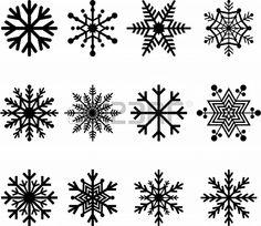 Ensemble de flocons de neige abstraits Banque d'images - 23226923
