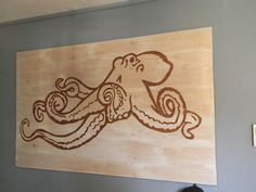 Ply wood Octopus art!