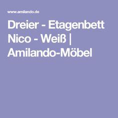 Hervorragend Dreier   Etagenbett Nico Weiß