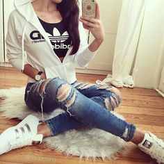 adidas cool outfit- Adidas outfit ideas http://www.justtrendygirls.com/adidas-outfit-ideas/