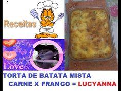 TORTA DE BATATA MISTA CARNE X FRANGO= POR  LUCYANNA  MELL