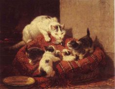 Henriette Ronner, L'éducation du chat  - KattenKabinnet, Amsterdam