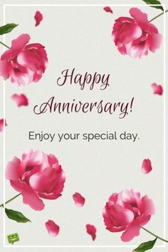 Milestone Marriage Anniversary Wishes for a Special Couple Happy Anniversary! Enjoy your special day Anniversary Wishes For Parents, Wedding Anniversary Message, Wedding Anniversary Greetings, Happy Wedding Anniversary Wishes, Happy Anniversary Cakes, Wedding Congratulations Card, Anniversary Meme, Anniversary Quotes For Couple, Birthday Greetings
