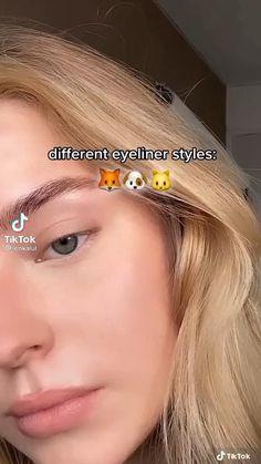 Edgy Makeup, Makeup Eye Looks, Hair Makeup, Cat Eye Makeup, Grunge Makeup, Puppy Eyes Makeup, Cat Eye Eyeliner, Eyelashes Makeup, Korean Eye Makeup