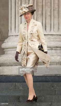 Princess Anne, Princess Royal attends a National Service of Thanksgiving as part of the 90th birthday celebrations for The Queen at St Paul's Cathedral on June 10, 2016 in London, England.