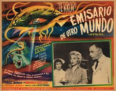 Not of This Earth, 1957 - Mexican lobby card