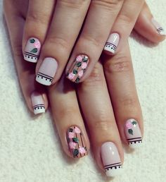 Uñas Short Nails, Long Nails, Prom Nails, My Nails, Chic Nails, Long Acrylic Nails, Cute Nail Art, Nail Decorations, Flower Nails